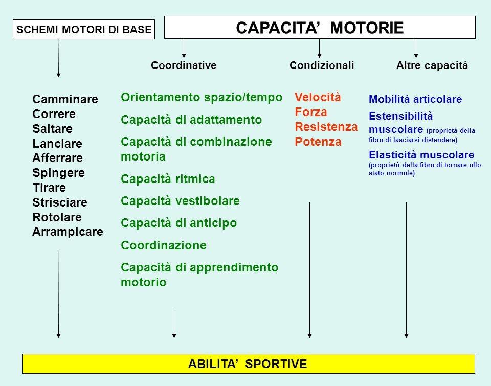 capacità motorie