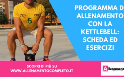 Programma di allenamento con la Kettlebell: scheda ed esercizi